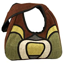 Earth Divas THB-001 Natural Dye Hemp Modern Eco Hobo Style Handbag