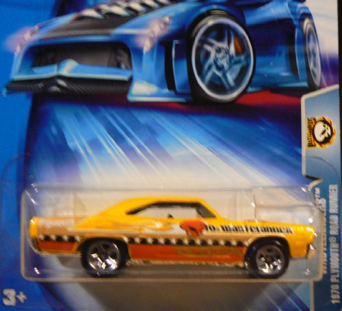 Hot Wheels 2004 Wastelanders 1970 Plymouth Road Runner YELLOW 169 Alien - 1