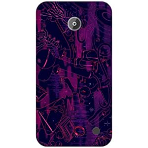 Via flowers Purple Phone Cover For Nokia Lumia 630