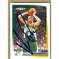 Vitaly Potapenko Autographed Hand Signed Basketball Card (Seattle Sonics) 2006 Topps...