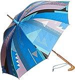 (ムーンバット)MOONBAT cocca 遮熱&1級遮光 晴雨兼用ショート傘 幾何柄プリント 「piece」 22-422-93590-00 73-45 ブルー 45cm
