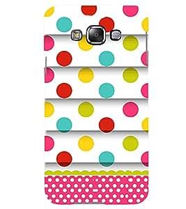 Printvisa Lite polka Dots Backcover For Samsung E7 (Multi)