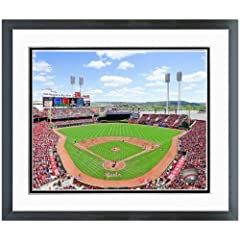 Buy Cincinnati Reds Great American Ballpark MLB Stadium Photo 12.5 x 15.5 Framed by MLB