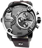 Diesel Herren-Armbanduhr XL Chronograph Quarz Leder DZ7258