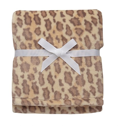 Baby Starters Leopard Print Blanket, Tan And Brown front-3249