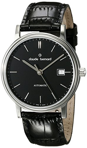 Claude Bernard Mens 80084 3 NIN Classic Automatic Analog Display Swiss Automatic Black Watch