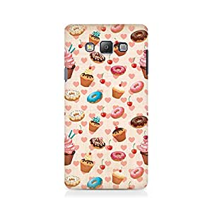 Motivatebox- Heart and Cakes Premium Printed Case For Samsung On 7 -Matte Polycarbonate 3D Hard case Mobile Cell Phone Protective BACK CASE COVER. Hard Shockproof Scratch-