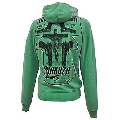 Yakuza Herren Sweatshirt Hoodie Jesus HOB 482 Jade Cream