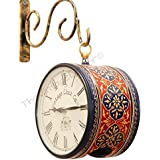 Vintage Clock / Hand-Painted / Double Side Clock / With Glass / Non Ticking (Sweep Moment) / 1 Year Warranty / Perfect For Gifting
