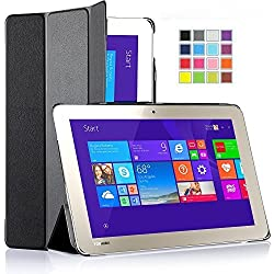IVSO Toshiba Encore 2 WT10-A32 / A64 10.0-Inch windows 8.1 tablet ultra-thin Smart Cover Case, Only fit Toshiba Encore 2 10-inch Tablet (Black)