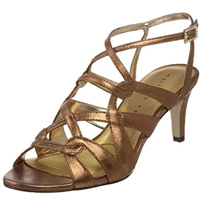New Born Pamati Womens Size 6 Bronze Leather Dress Sandals Shoes Used