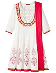 ALL Women's Anarkali Kurta With Dupatta - Plus Size