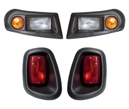 Ez-Go Golf Cart-Go Golf Cart Go Rxv Headlights,Led Taillights & Wire Harnessblack