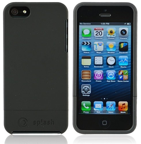 splash CRUISER Slim-Fit Polycarbonate Slider Case for iPhone 5 Cover for The New iPhone 5 (BLACK)