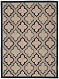 Blue Rug Indoor/Outdoor Textured Carpet, 5-Feet 3-Inch by 7-Feet 5-Inch Stain Resistant Trellis Design