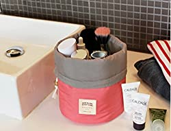 Followme Yes I Do Water Resistant Travel pouch Cosmetics Organizer cum toiletry bag in peach