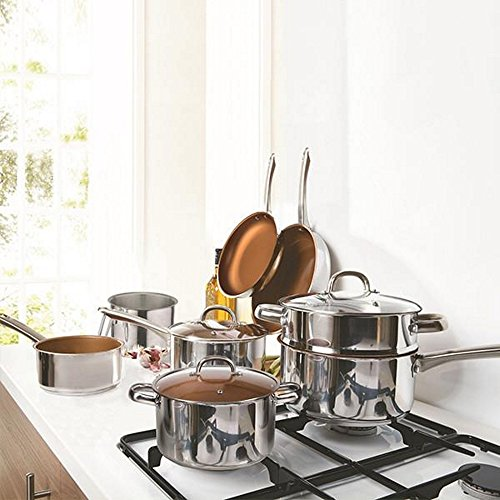 8-piece-430-grade-stainless-steel-100-non-stick-cermalon-copper-ceramic-pan-set-jug-3-step-universal