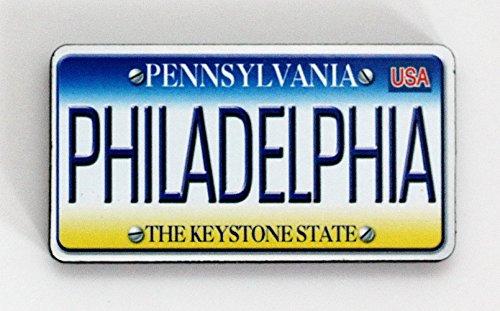 Philadelphia Pennsylvania License Plate Wood Fridge Magnet