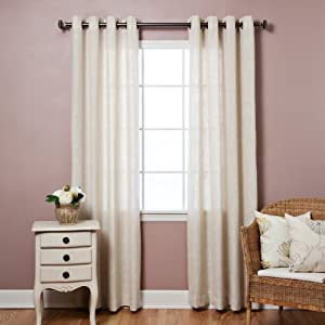 Faux Linen Grommet Curtain - 50