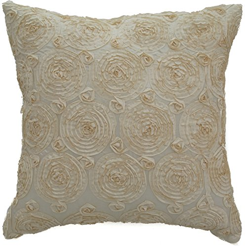 avarada solid floral bouquet throw pillow cover decorative. Black Bedroom Furniture Sets. Home Design Ideas