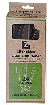 Zilchables Compostable Knife, Brown (480-Count)