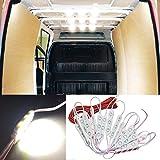 12V 60 LEDs Van Interior Light Kits, Ampper LED Ceiling Lights Kit for Van RV Boats Caravans Trailers Lorries Sprinter Ducato Transit VW LWB (20 Modules, White)