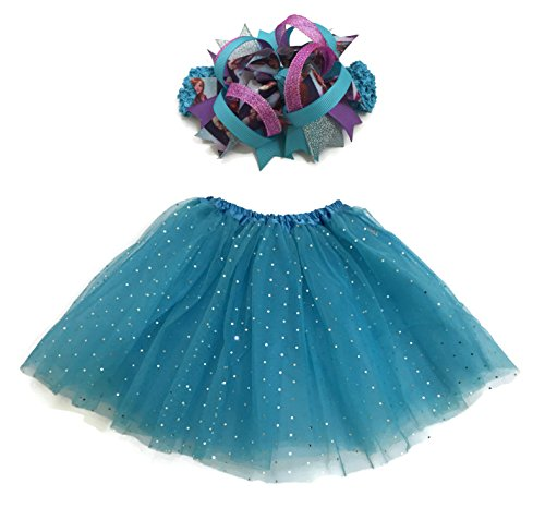 Rush Dance Ballerina Girls Dress-Up Queen Elsa Frozen Fever Tutu & Headband