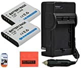 Olympus Tough TG-1 iHS TG-2 iHS SH-50 iHS XZ-2 iHS Digital Camera Battery & Battery Charger Kit Includes - Qty 2 LI-90B Replacement Batteries + AC/DC Battery Charger + More!!