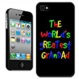 Fancy A Snuggle 'The World's Greatest Grandad Fathers Day Birthday Gift' Clip On Back Cover Hard Case for Apple iPhone 4/4S