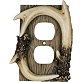 Rivers Edge Products Deer Antler Duplex Receptacle Electrical Cover Plate CVR