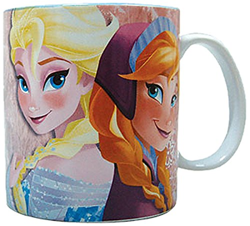 Westland Giftware Stoneware Mug, Elsa and Anna, 14 oz., Multicolor - 1