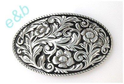 Brand:e&b Chased Engraved Enameled Western Style Scene Belt Buckle Wt-097bk