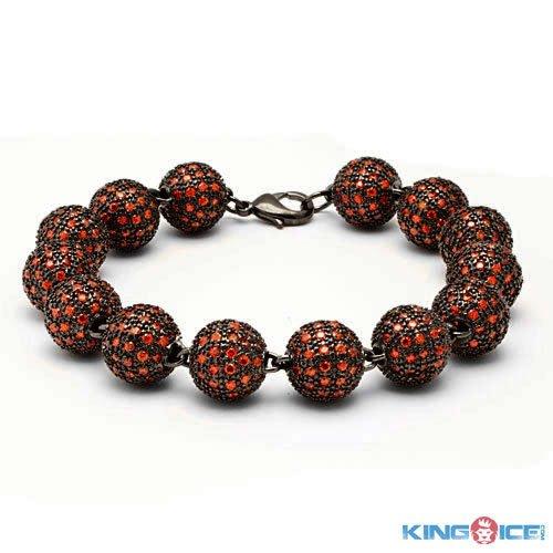 King Ice Red Swag Premium Disco Ball Bracelet