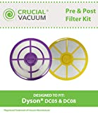 Pre & Post Motor Filters Fit Dyson DC05 & DC08 Vacuums, Designed & Engineered by Crucial Vacuum