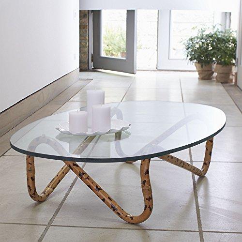 Crate And Barrel Indigo Rattan Coffee Table