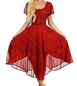 Sakkas 1322 Marigold Fairy Dress - Cayenne - One Size Regular
