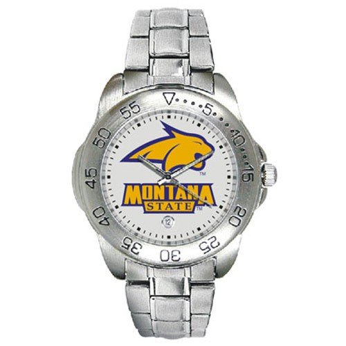 Montana State Bobcats Men&#8217;s Gameday Sport Watch w/Stainless Steel Band