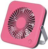 Pieria(ピエリア) 10cm コンパクトデスク扇風機 ピンク 2電源(AC,USB) 風量2段階切替