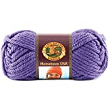 Lion Brand Yarn 135-147J Hometown USA Yarn, Minneapolis Purple