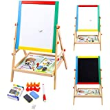 FDS Children 2 in 1 Black/ White Wooden Easel Educational Drawing Board
