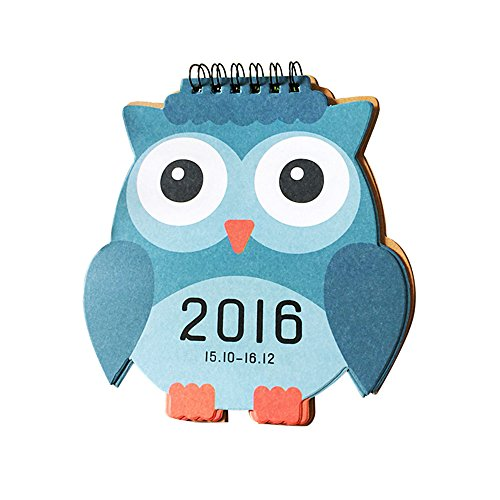 Baidecor Blue Owl 2016 Desk Calendar 6