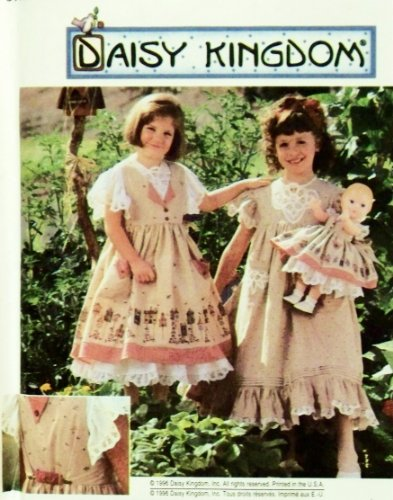 "Simplicity 7029 Size Aa 3,4,5,6 Child'S Pinafore, Dress Plus Doll Clothes Pattern For 18"" Doll. front-816295"