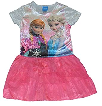 Disney Frozen Sisters Forever Hearts Dress Girls Tulle Anna Elsa