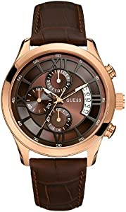 GUESS U14504G1 Roman Numeral Overlay Watch