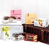 Traditional Tea & Biscuits Christmas Gift Hamper in Luxury Brown Wicker Basket