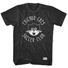 Chicago Cats Black Soccer T-shirt