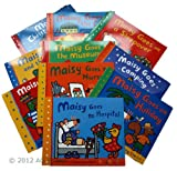 Maisy Mouse 10 books Collection: Maisy Goes to Nursery / Maisy Goes on Holiday / Maisy Goes to Hospital / Christmas Eve / Goes to the City / Goes on a Sleepover / Goes Camping / Goes to the Library /Charley and the Wobbly Tooth / Goes to the Museum Lucy