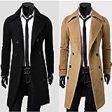 Élégant double breasted pardessus Hommes Long manteau d'hiver des tranchées