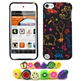 "Apple iPod Touch 5 (5th Generation) ""Colorful Animals"" Hard Case + 1 Fruity Dust Plug [Cellular Connection Packaging]"