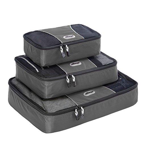 eBags Packing Cubes - 3pc Set (Titanium)